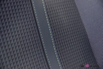 Essai Peugeot 208 2019 GT line siège détail motif