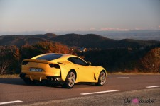 Road-Trip Ferrari Paris-Mulhouse 812 Superfast route paysage Alsace