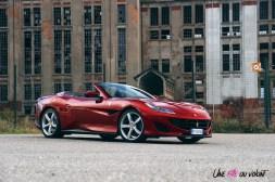 Road-Trip Ferrari Paris-Mulhouse portofino profil calandre jantes feux cabriolet