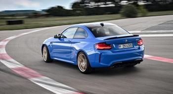 BMW M2 CS 2019 arrière dynamique sportive coupé feux échappement