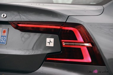 Photo Essai Volvo S60 Polestar Engineered logo signature lumineuse arrire