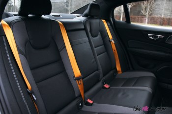 Photo Essai Volvo S60 Polestar Engineered banquette arrire ceintures