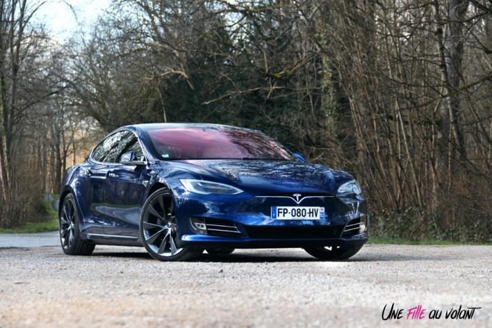 Photos essai Tesla Model S Grande Autonomie 2020 face avant