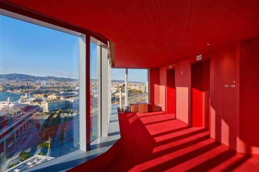 Photos hotel W Barcelona couloirs chambres