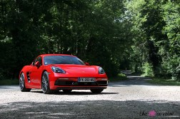Photos essai Porsche 718 Cayman S 2020 rouge indien