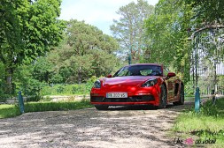Photos essai Porsche 718 Cayman S 2020 coupŽ rouge indien