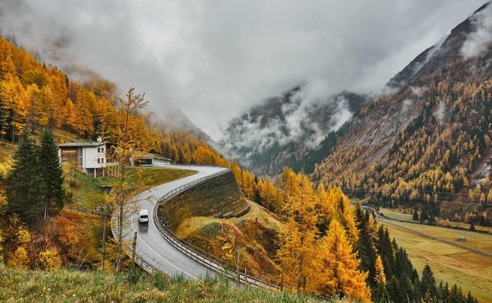 Photo route automne
