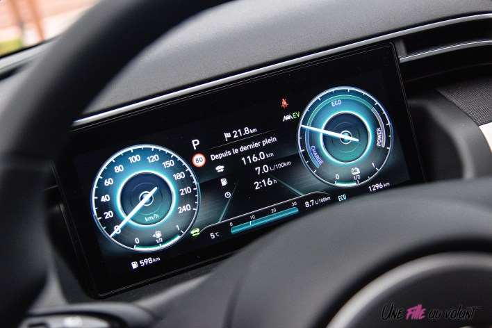 Photo combiné instrumentation Hyundai Tucson hybride 2020