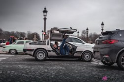 Photo Traversée de Paris hivernale 2021 DeLorean DMC-1