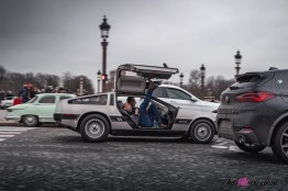 Photo Traversée de Paris hivernale 2021 DeLorean DMC-1