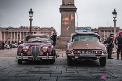 Photo Traversée de Paris hivernale 2021 Jaguar Citroen DS
