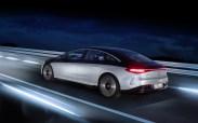 Photo dynamique arrière Mercedes EQS 2021