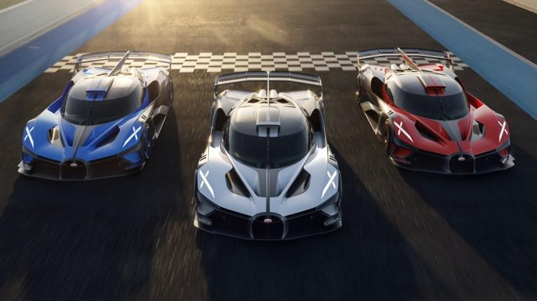 Photo trio Bugatti Bolide 2021