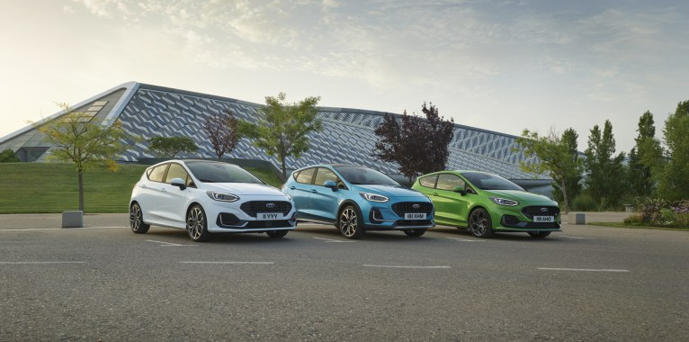Photo gamme Ford Fiesta restylee 2021