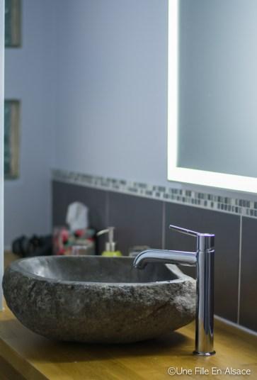 Salle d'eau - Chambre Célestine - Chambres d'hôtes Les Ecrins à Orbey - Photo Céline Schnell - Une Fille En Alsace
