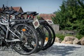 Location de vélo à l'Hôtel Val Vignes à Saint-Hippolyte - Photo Céline Schnell Une Fille En Alsace