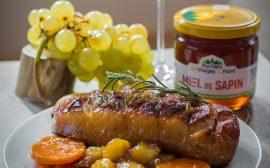 Magret de canard au miel, poire et patates douces - Une Fille en Alsace