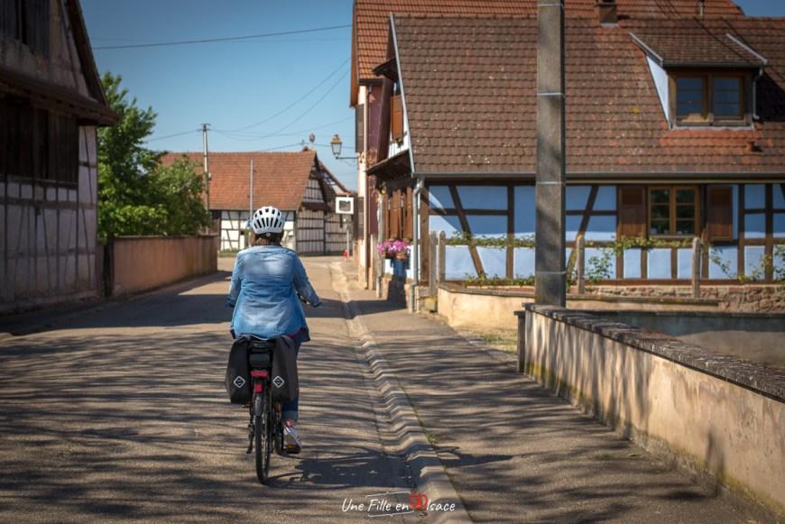 A vélo dans le Grand Ried Limersheim - Une Fille en Alsace