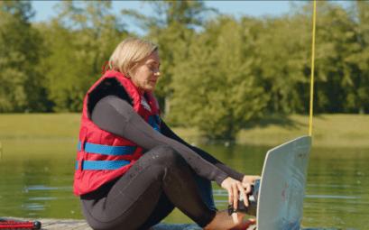 Wake Board Plan d'eau Wittisheim - Une Fille en Alsace