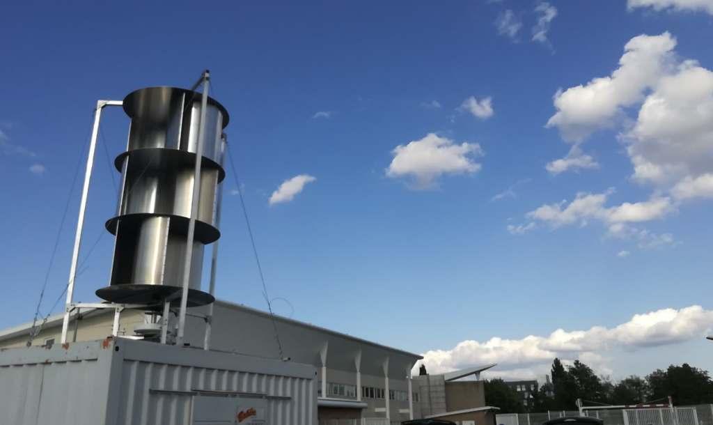 Eolienne-Faculté-Béthune Une éolienne V2 à la Faculté des sciences appliquées de Béthune