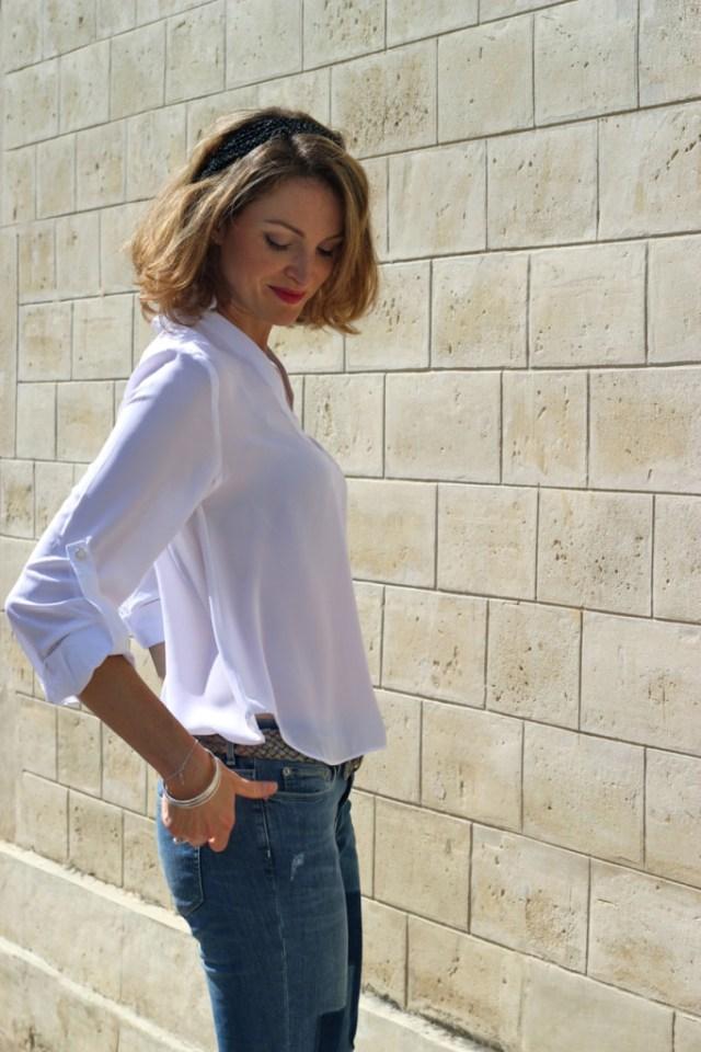 blouse blanche sheinside