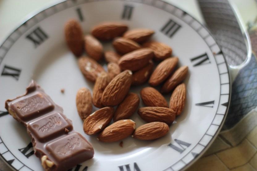 Amandes, chocolat