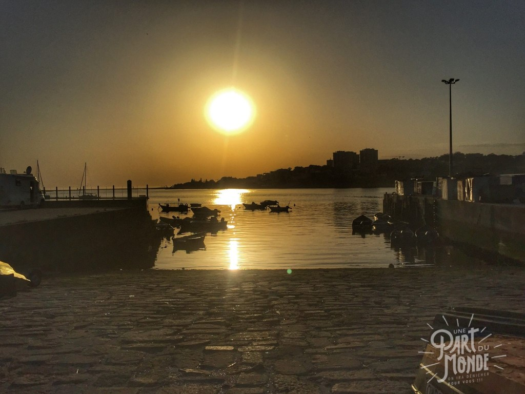 marina douro porto sunset