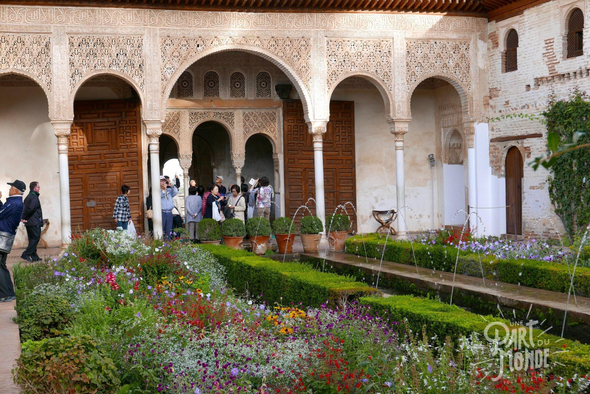 jardin fleuri grenade alhambra