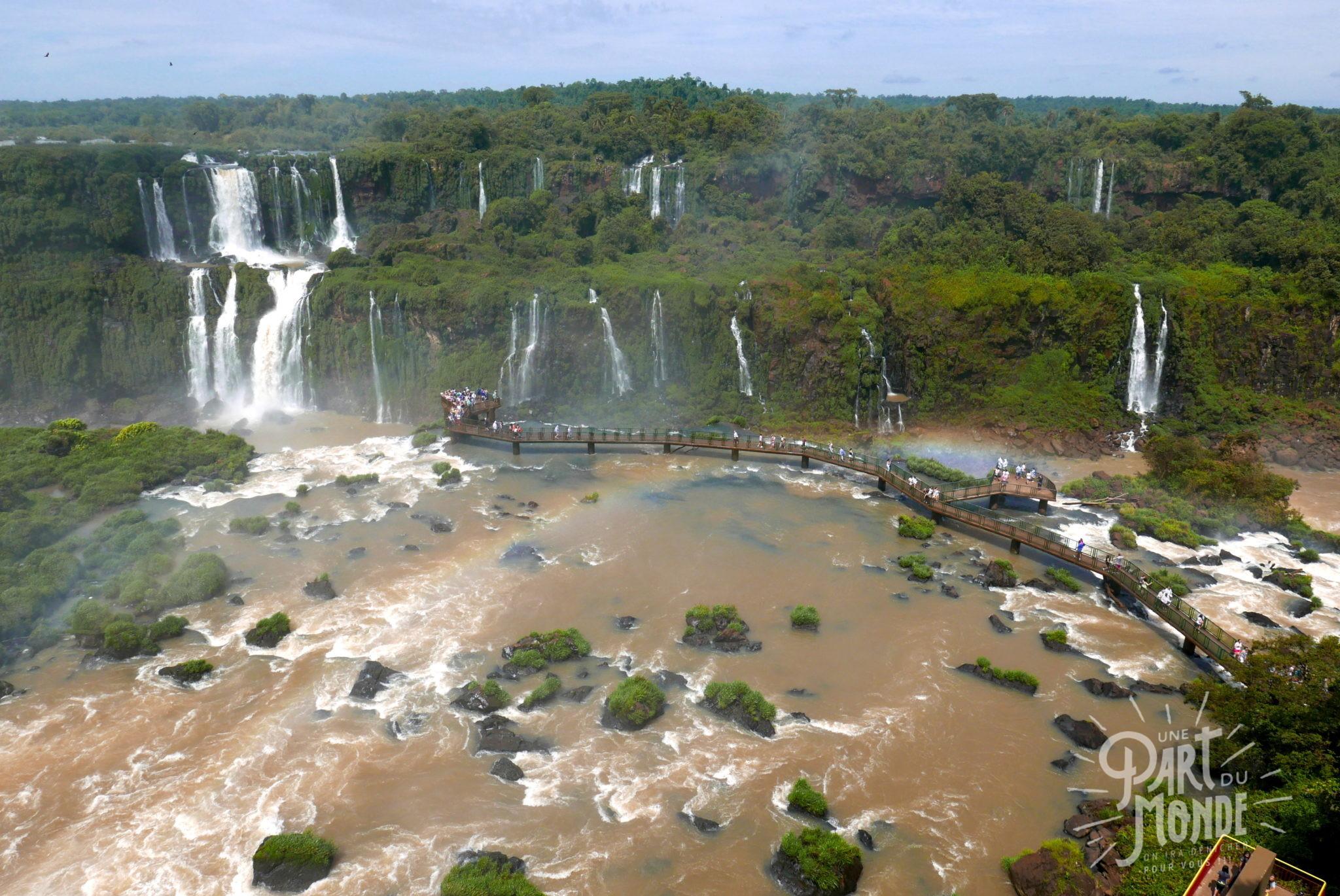 chutes d'iguazu côté brésilien amphittheatre deux