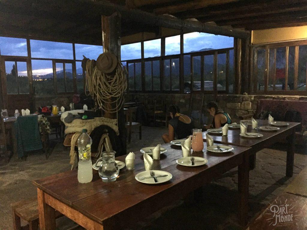 ranch volontariat à mendoza table