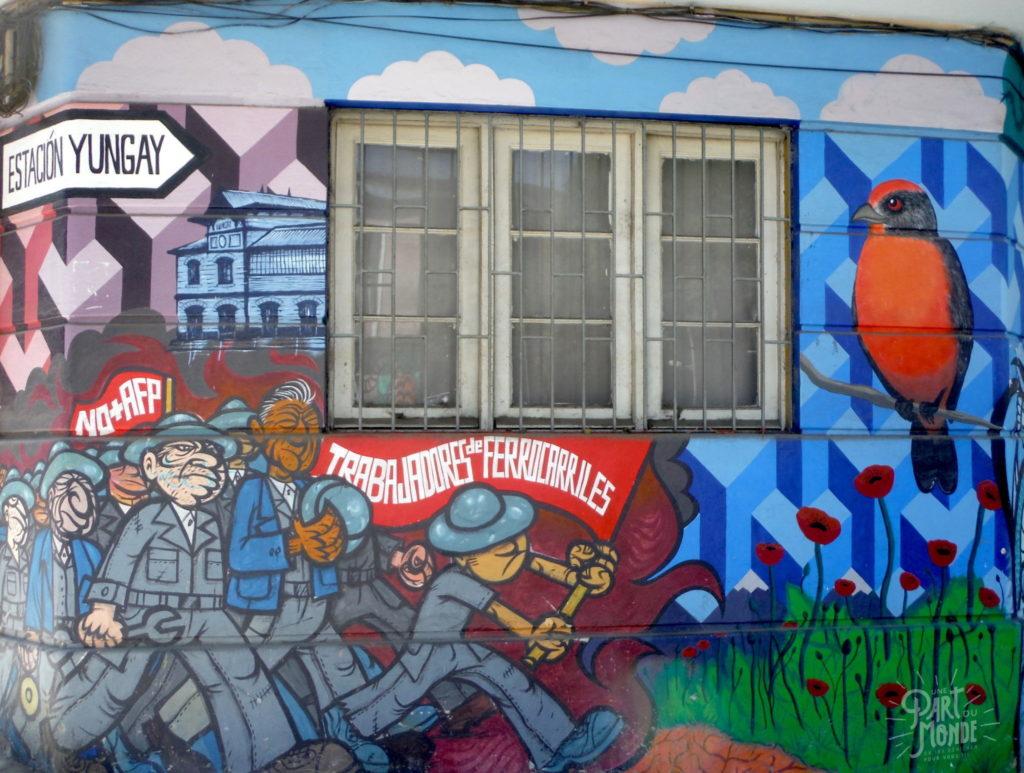 street art trabajadores santiago du chili