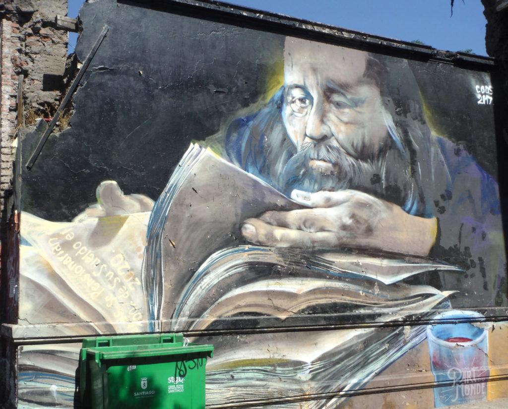 viel homme street art santiago du chili