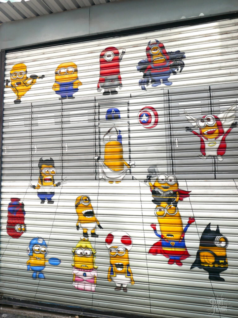 minions animated alley taichung