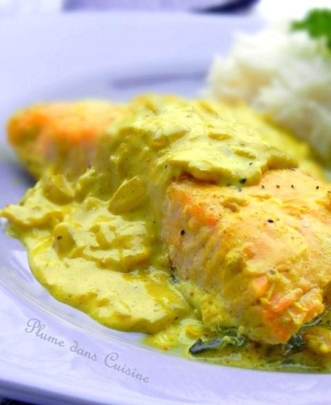 Sauce Pour Saumon Chaud : sauce, saumon, chaud, Saumon, Curry, Plume, Cuisine