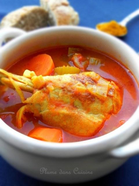 Soupe-poulet-curry