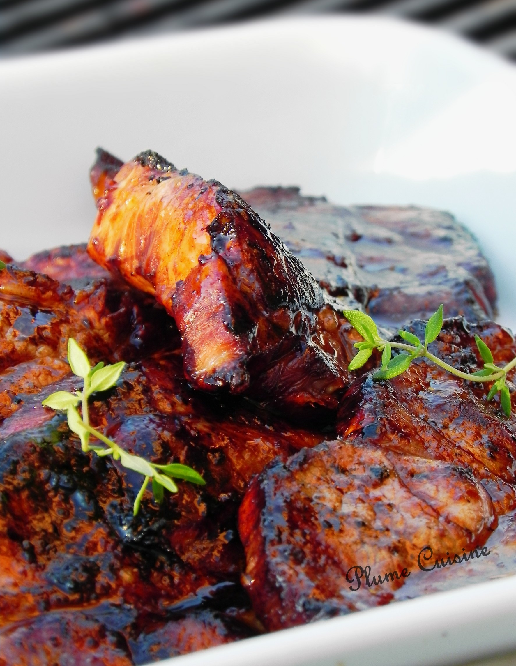 Marinade Cote De Porc Barbecue : marinade, barbecue, Marinade, Côtelettes, Grillées,, Citron