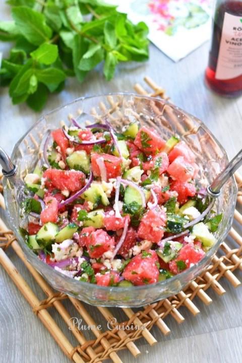 Salade-pastèque-et-feta-recette