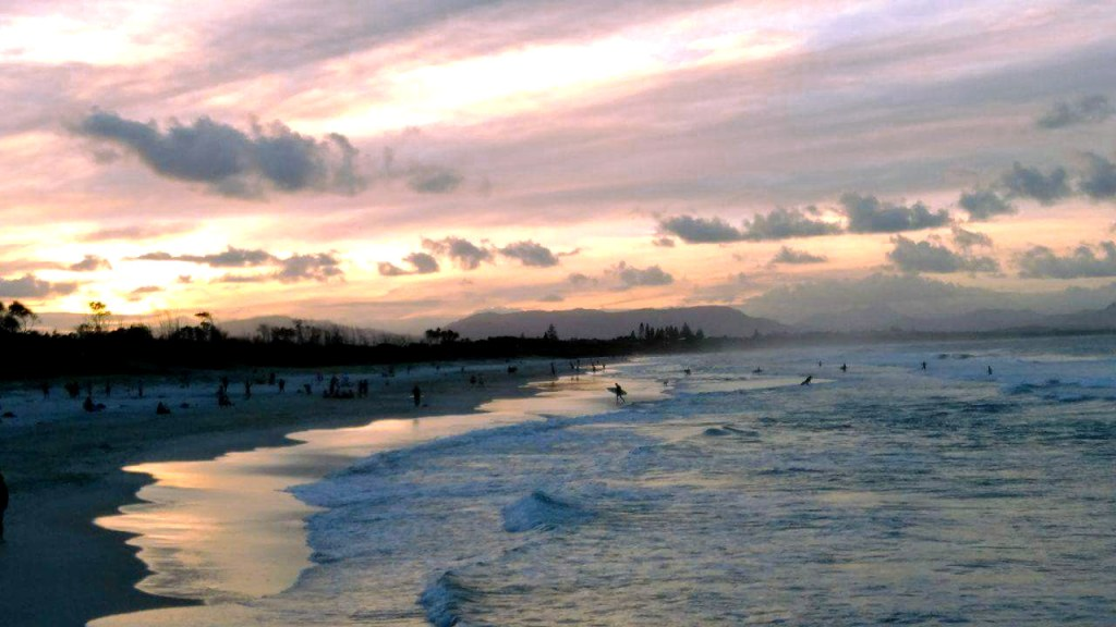 Sunset picture - Byron Bay, Australia