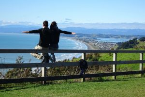 With a travel partner in New Zealand
