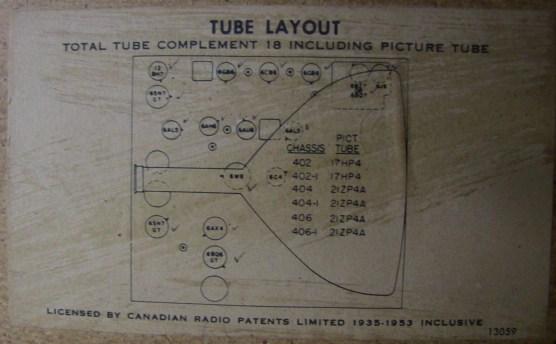 Crosley schematics on back panel
