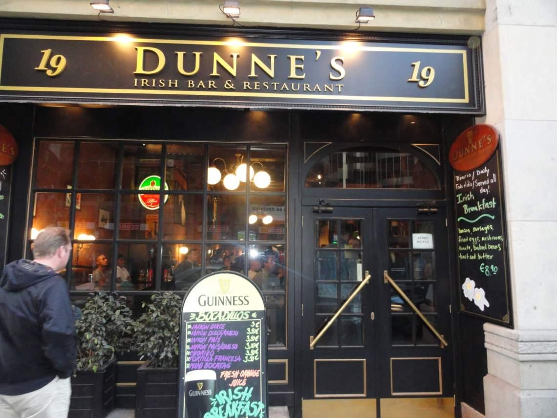 Ierse pub Dunne's in bar Celona