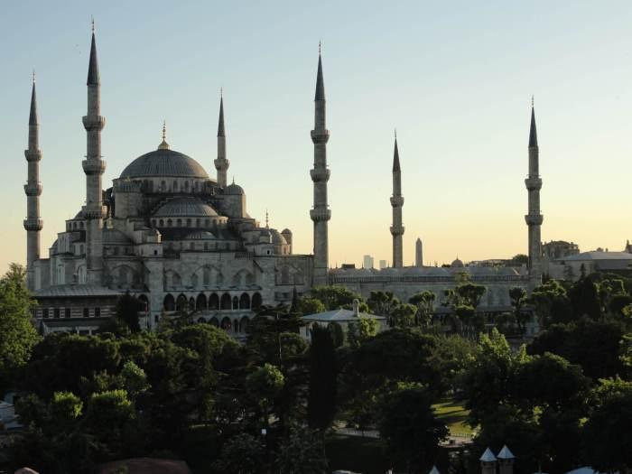 De blauwe moskee in Istanbul