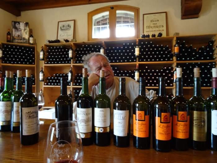 De verschillende wijnen in St Émilion