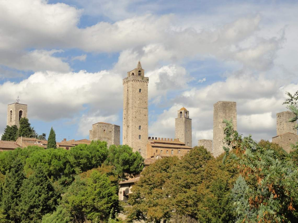 de skyline van de Toscaanse torenstad San Gimignano