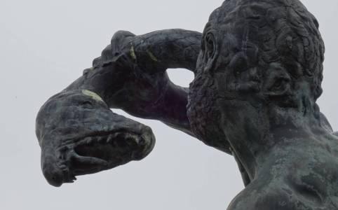 Hercules vecht met slang