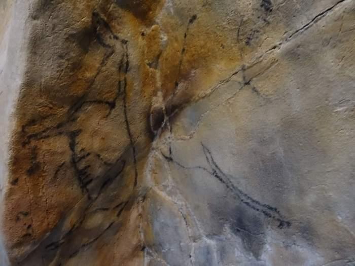 Paleolithische tekening in grot van Altamira