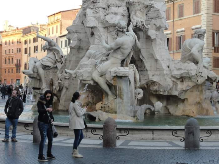 Vierstromenfontein op het piazza navona in Rome