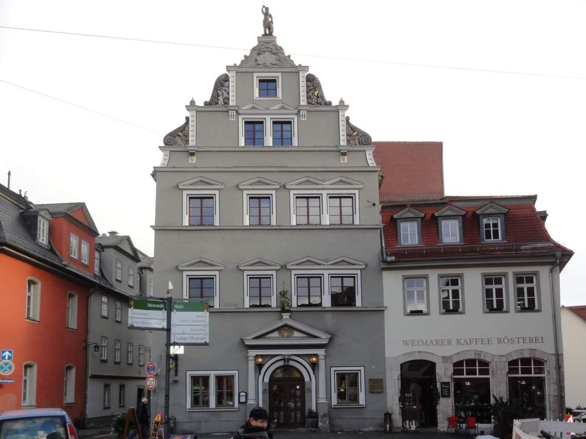 Kleurrijke gevels in Weimar