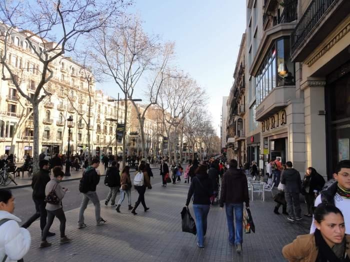 Massatoerisme in Barcelona
