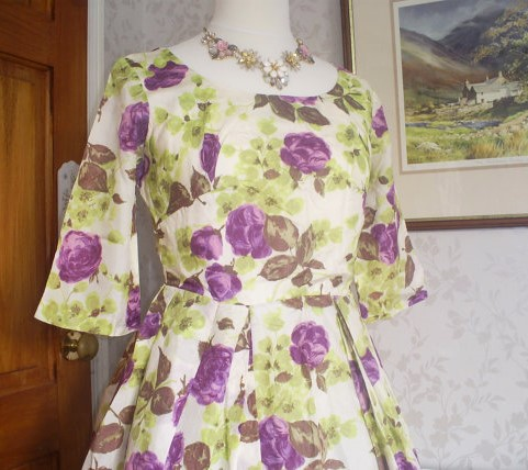 robe vintage fleur etsy